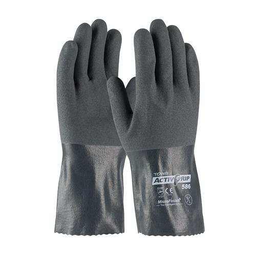 "PIP 56-AG586 ActivGrip Nitrile Coated Glove with Cotton Liner and MicroFinish Grip - 12"" - Box/12 Pairs"