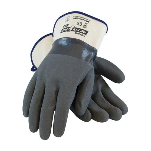 PIP 56-AG588 ActivGrip Nitrile Coated Glove with Cotton Liner and MicroFinish Grip - Safety Cuff - Box/12 Pairs