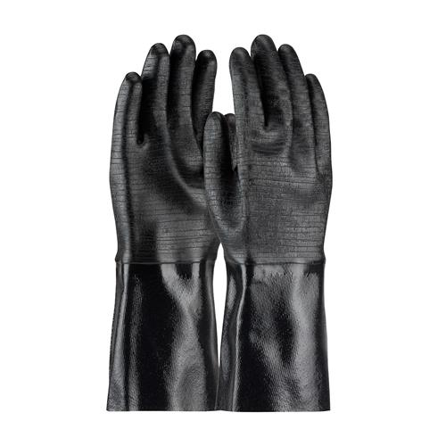 "PIP 57-8640R ChemGrip Neoprene Coated Glove with Interlock Liner and Etched Rough Finish - 14"" - Box/12 Pairs"