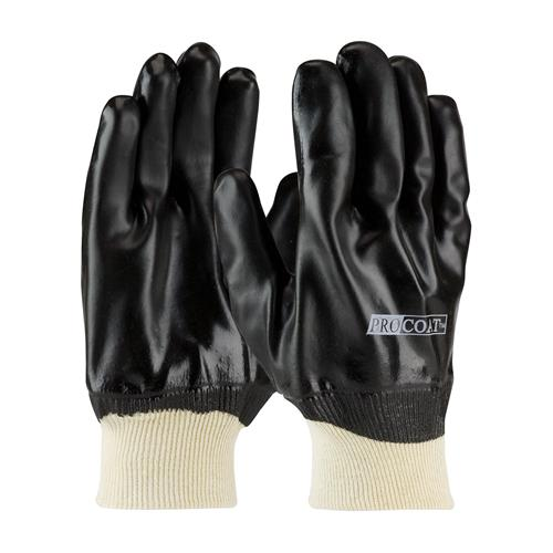PIP 58-8015 ProCoat PVC Dipped Glove with Interlock Liner and Smooth Finish - Knitwrist - Box/12 Pairs