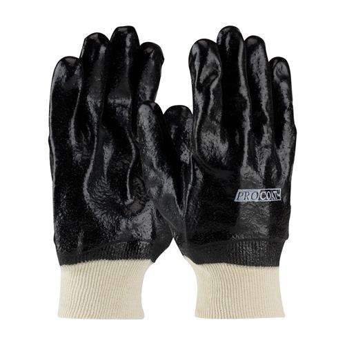 PIP 58-8015R ProCoat PVC Dipped Glove with Interlock Liner and Semi-Rough Finish - Knitwrist - Box/12 Pairs
