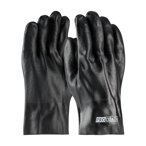 "PIP 58-8020DD ProCoat PVC Dipped Glove with Jersey Liner and Rough Acid Finish - 10"" - Box/12 Pairs"
