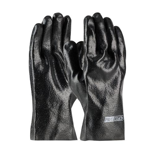 "PIP 58-8020R ProCoat PVC Dipped Glove with Interlock Liner and Semi-Rough Finish - 10"" - Box/12 Pairs"