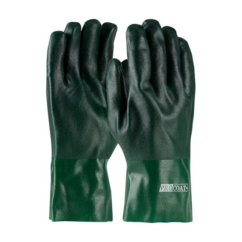 "PIP 58-8025DD ProCoat PVC Dipped Glove with Jersey Liner and Rough Acid Finish - 12"" - Box/12 Pairs"