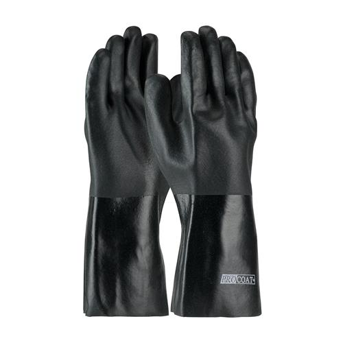 "PIP 58-8040DD ProCoat PVC Dipped Glove with Jersey Liner and Rough Acid Finish - 14"" - Box/12 Pairs"