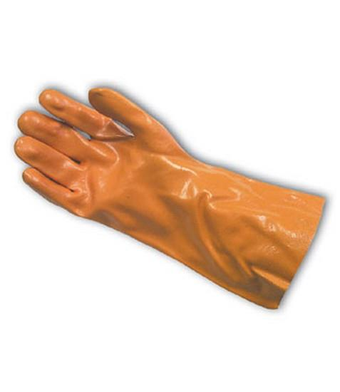 "PIP 58-8040Y Procoat Pvc Gloves, Smooth Finish, Yellow, 14"" Length, Jersey Lined - Box/12 Pairs"