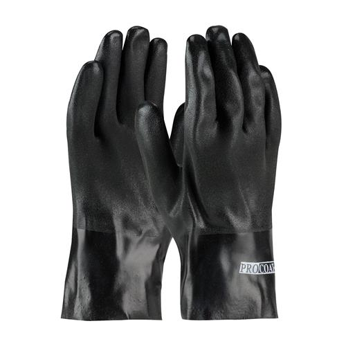 "PIP 58-8120DD ProCoat PVC Dipped Glove with Interlock Liner and Sandy Finish - 10"" - Box/12 Pairs"