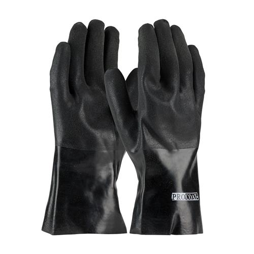 "PIP 58-8130DD ProCoat PVC Dipped Glove with Interlock Liner and Sandy Finish - 12"" - Box/12 Pairs"