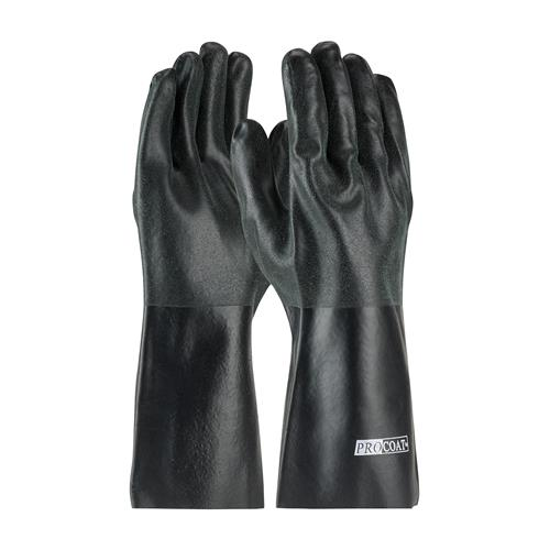 "PIP 58-8140DD ProCoat PVC Dipped Glove with Interlock Liner and Sandy Finish - 14"" - Box/12 Pairs"