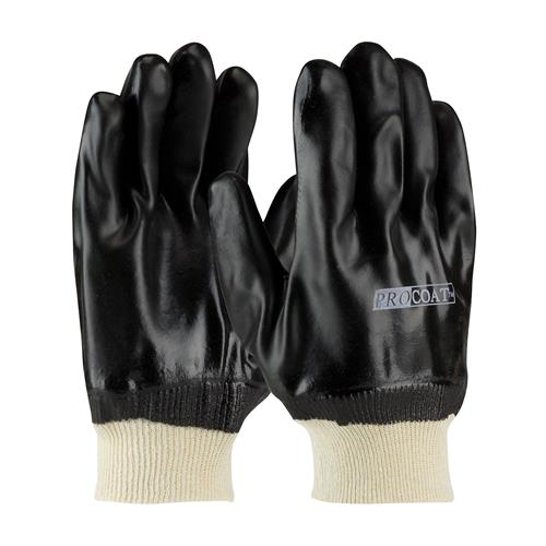 PIP 58-8215DD ProCoat PVC Dipped Glove with Jersey Liner and Sandy Finish - Knitwrist - Box/12 Pairs