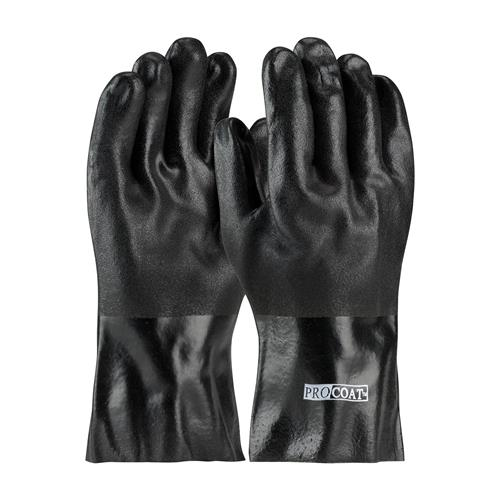 "PIP 58-8230DD ProCoat PVC Dipped Glove with Jersey Liner and Sandy Finish - 12"" - Box/12 Pairs"