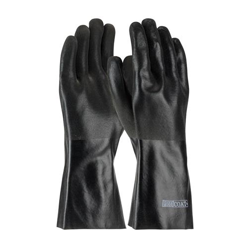 "PIP 58-8240DD ProCoat PVC Dipped Glove with Jersey Liner and Sandy Finish - 14"" - Box/12 Pairs"