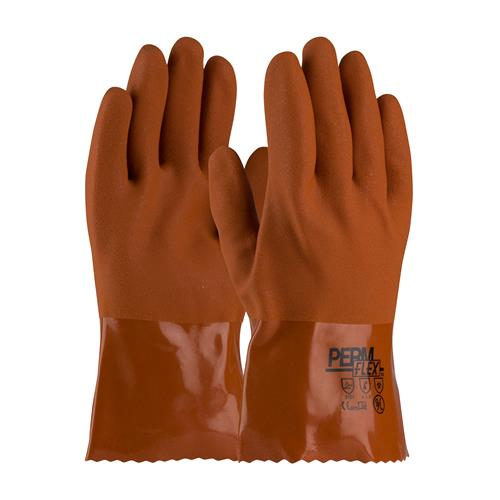 "PIP 58-8650 PermFlex Cold Resistant PVC Glove with Seamless Liner and Rough Coating - 10"" - Box/12 Pairs"
