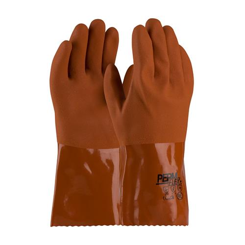 "PIP 58-8651 PermFlex Cold Resistant PVC Glove with Seamless Liner and Rough Coating - 12"" - Box/12 Pairs"
