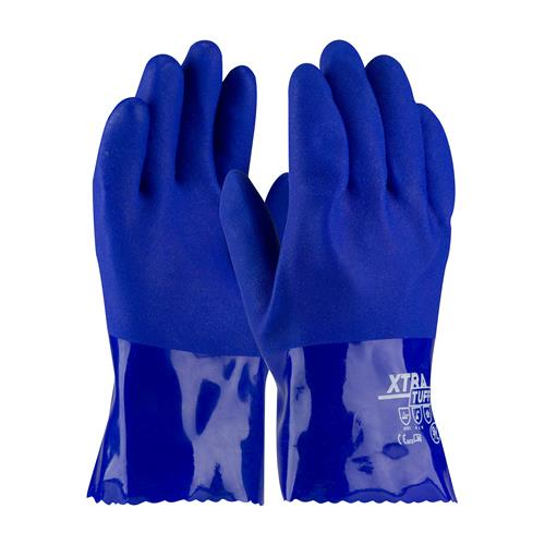 "PIP 58-8655 XtraTuff Oil Resistant PVC Glove with Seamless Liner and Rough Coating - 10"" - Box/12 Pairs"