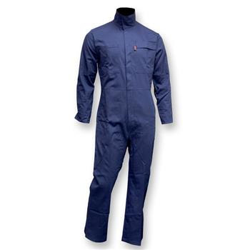 CPA 605-FRC-N Chicago Protective Apparel Arc Rated FR Navy Coverall 2112 and 70E 9 oz 100% FR Cotton