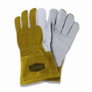 "West Chester IronCat 6143 Goatskin Premium Grain Leather MIG/TIG Welding Gloves, Fleece Lined, Kevlar Sewn, 4"" Cuff, Box/Dozen Pairs"