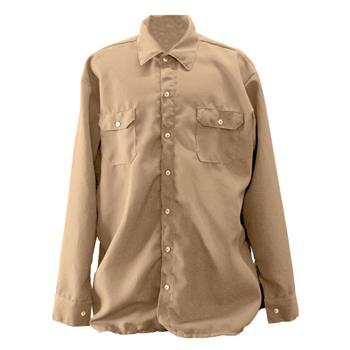 Chicago Protective Apparel 625-NMX-4.5-T 70E Nomex IIIA FR Work Shirt, Tan