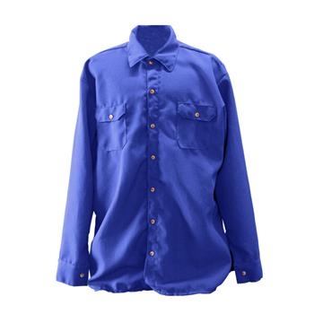Chicago Protective Apparel 625-NMX-6-RB 70E Royal Blue Nomex IIIA FR Work Shirt