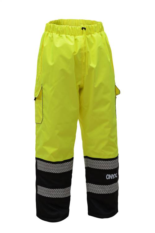 GSS Safety 6711 ONYX Class E Safety Pants with Teflon Coating-Lime