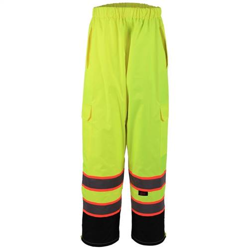 GSS Safety 6715 Class E Two Tone Rain Pants - Lime