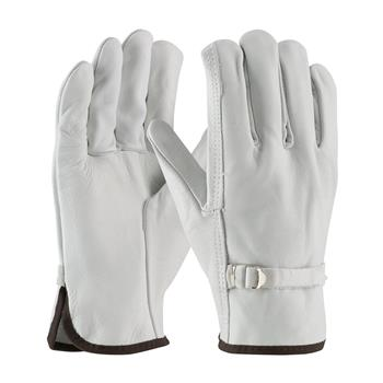 PIP 68-153 Regular Grade Top Grain Cowhide Leather Driver's Glove with Pull Strap Closure - Straight Thumb - Box/12 Pairs