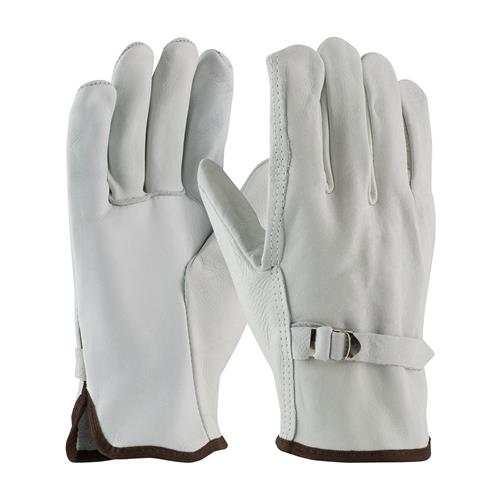 PIP 68-158  Superior Grade Top Grain Cowhide Leather Driver's Glove with Pull Strap Closure - Straight Thumb - Box/12 Pairs