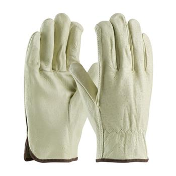 PIP 70-318 Premium Grade Top Grain Pigskin Leather Driver's Glove - Straight Thumb - Box/12 Pairs
