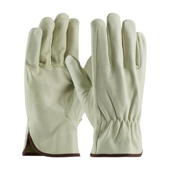 PIP 70-361 Economy Grade Top Grain Pigskin Leather Driver's Glove - Keystone Thumb - Box/12 Pairs