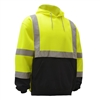 GSS 7001 Class 3 Pullover Fleece Sweatshirt with Black Bottom-Lime