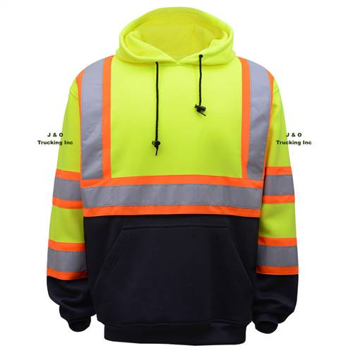 GSS Safety 7005 Class 3 Two Tone Pullover Sweatshirt-Lime