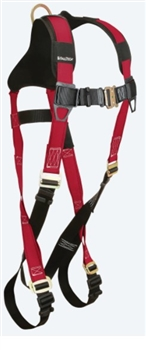 FallTech 7006B Tradesman® Plus 1D Standard Non-belted Full Body Harness, Pass-Thru Buckle Legs, Quick Connect Chest, Sizes: XSmall - Big Boys 3XL, 425 lb Max