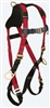 FallTech 7009B Tradesman® Plus 1D Standard Non-belted Full Body Harness, Side D-Rings, Pass Thru Legs, Quick Connect Chest, Sizes: XSmall - Big Boys 3XL, 425 lb Max