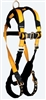 FallTech 7021FD Journeyman Flex® Steel 2D Climbing Non-belted Full Body Harness, Front D-Ring, Sizes: S - Big Boys 3XL, 425 lb Max