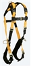 FallTech 7023QC Journeyman Flex® Steel 3D Standard Non-belted Full Body Harness, Back & Side D-Rings, Quick Connect, UniFit Size S - L