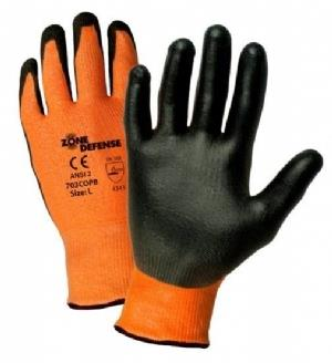 "West Chester 703COPB Zone Defenseâ""¢ Orange HPPE Shell with Black Polyurethane Palm Coat - Box/12 Pairs"