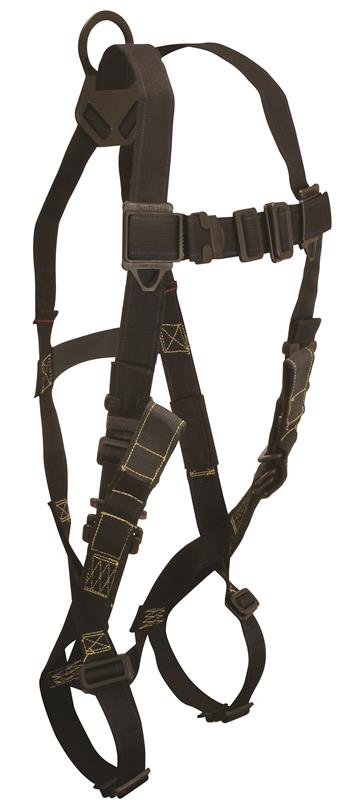 FallTech 7047R Arc Flash Full Body Harness, Nomex / Kevlar, Back D-Ring, Mating Buckle Legs & Chest, Rescue Loops, 425 lb Rated