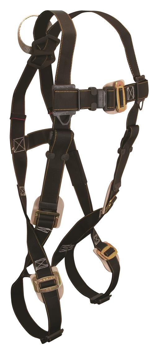 FallTech 7051 Arc Flash Full Body Harness, Nomex / Kevlar, Dorsal Web Loop, Leather Insulated Buckles and Adjusters, 425 lb Rated