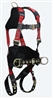 FallTech 7078B Tradesman® Plus 3D Construction Belted Full Body Harness, Side D-Rings, Grommet Legs, Quick Connect Chest, Sizes: Small - Big Boys 3XL, 425 lb Max