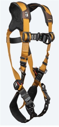 FallTech 7080BFD  Advanced ComforTech® Gel 2D Climbing Non-belted Full Body Harness, Tongue Buckle Leg Adjustment