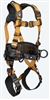 FallTech 7081B Advanced ComforTech® Gel 3D Construction Belted Full Body Harness, Quick Connect Chest & Leg Grommets X Small - Big Boys 3XL, 425 lb Max