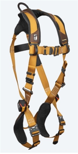 FallTech 7082B Advanced ComforTech® Gel 1D Standard Non-belted Full Body Harness, Quick Connect Chest & Leg Adjustment Small - Big Boys 3XL, 425 lb Max