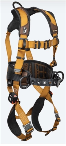 FallTech 7083B Advanced ComforTech® Gel 3D Construction Belted Full Body Harness, Quick Connect Chest & Leg Adjustment X Small - Big Boys 3XL, 425 lb Max
