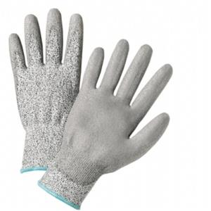 West Chester 720DGU Gray PU Palm Coated Speckle Gray HPPE Gloves - Box/12 Pairs