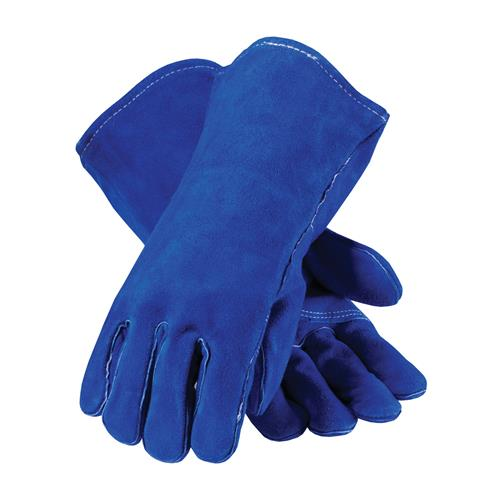 PIP 73-7007 Blue Bison Select Shoulder Split Cowhide Leather Welder's Glove with Cotton Liner and Kevlar Stitching - Box/12 Pairs