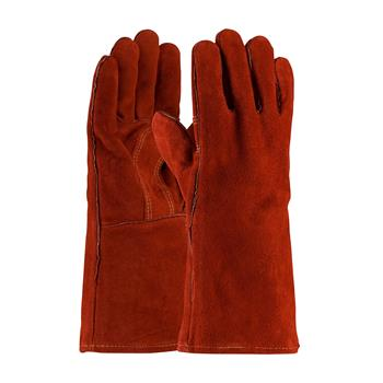 PIP 73-7015 Red Viper Select Shoulder Split Cowhide Leather Welder's Glove with Cotton Liner and Kevlar Stitching - Box/12 Pairs