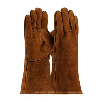 Shoulder Split Cowhide Leather Welder's Glove with Cotton Liner