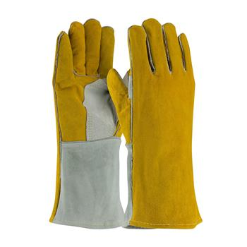 PIP 73-7150  Side Split Cowhide Leather Welder's Glove with Cotton Foam Liner and Kevlar Stitching - Box/12 Pairs