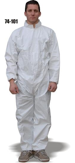Majestic 74-101, ComforTEX Micro-porous Coverall, Elastic Wrist & Ankles, Attached Hood, Breathable, ANSI/ISEA 101-1996(R2008), Case/25