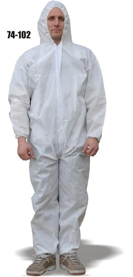 Majestic 74-102, ComforTEX Micro-porous Coverall, Elastic Wrist & Ankles, Attached Hood, Breathable, ANSI/ISEA 101-1996(R2008), Case/25